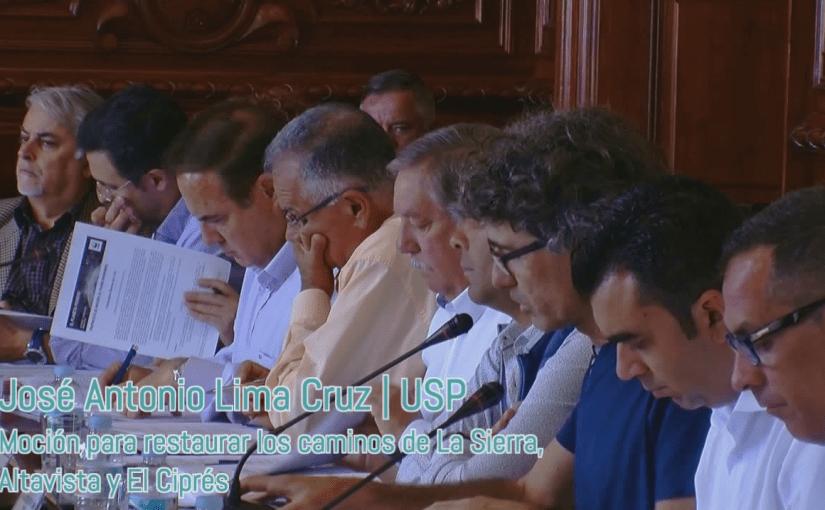 Aprobada nuestra moción para restaurar los caminos de La Sierra, Altavista y El Ciprés