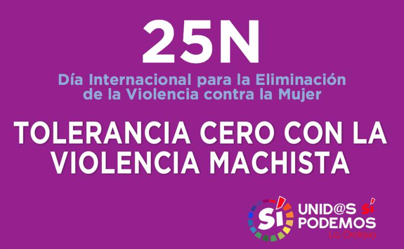 25N: Tolerancia cero con las violencias machistas