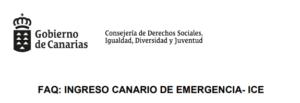 Preguntas más frecuentes para solicitar la Renta Canaria de Emergencia y guía del Instituto Canario de Igualdad para actuar ante casos de violencia machista.