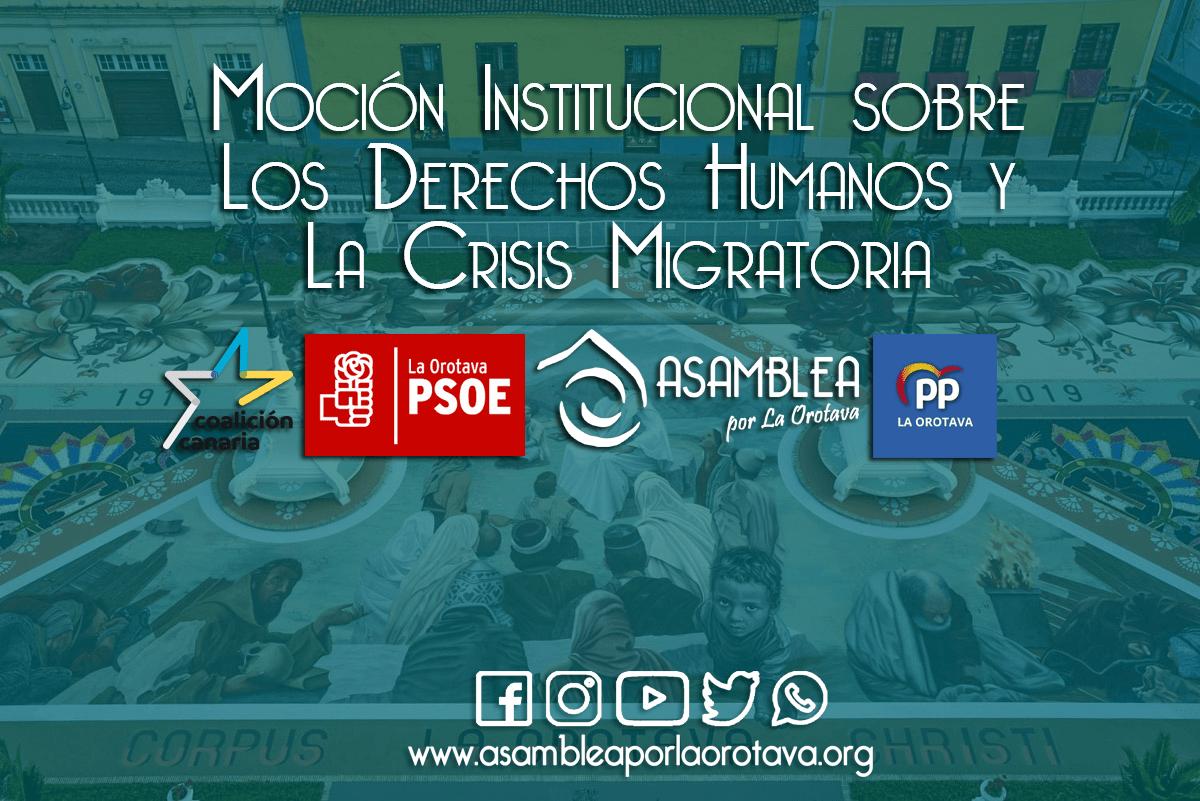 Moción Institucional sobre Los Derechos Humanos y La Crisis Migratoria