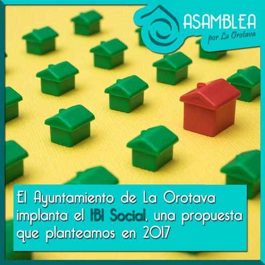 """Asamblea por La Orotava no valora positivamente la implantación del """"IBI social"""", propuesta que presentaron en el 2017"""