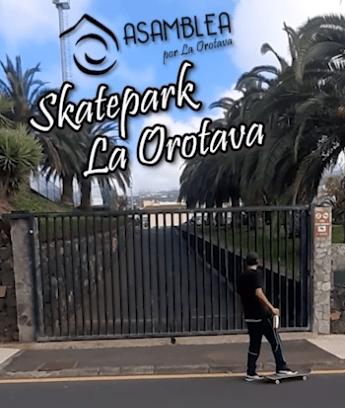El Ayuntamiento de La Orotava se compromete a arreglar el skatepark del Mayorazgo